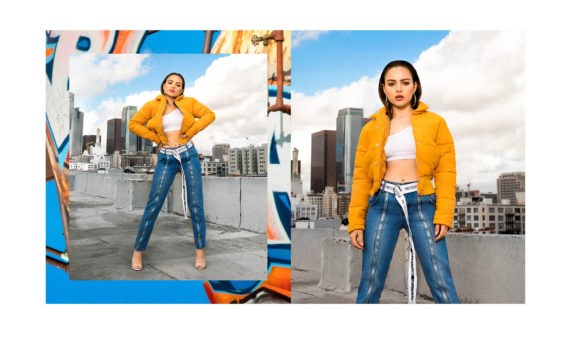 Nathalie Paris Yellow Jacket & Denim Jeans Shoot 2 Desktop