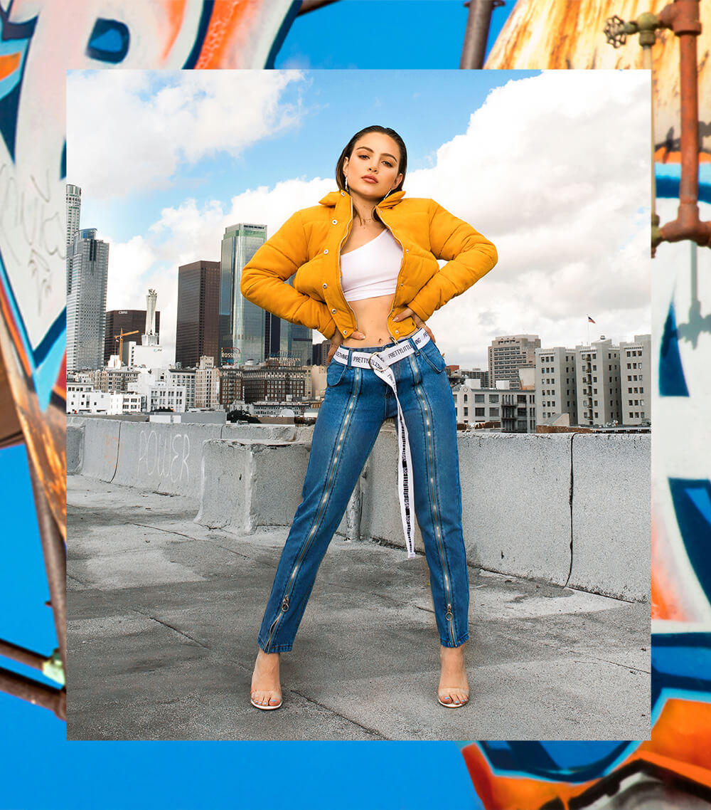 Nathalie Paris Yellow Jacket & Denim Jeans Shoot 3 Mobile